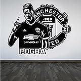 Paul Pogba Man Utd Fußball Star Zitat Wall Art Sticker
