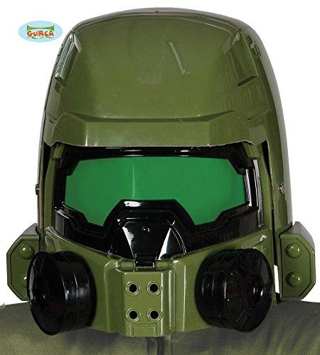 grüner Weltraumkrieger Soldaten Sternen Helm Master Krieger Helm für Erwachsene (Halo Soldaten Kostüme)