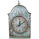 Ornamenti del giardino di Birdcage ferro decorativo muro orologio ferro suite di casa di paese americano artigianato casa , 1
