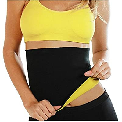 Teenloveme Womens Hot Shaper Slimming Sauna Belts Body Shaper Wraps Tummy Control Waist Trainer Fat Burner Yoga Workout Hot Belt 2Pack