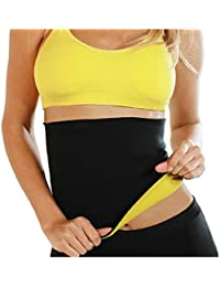 Hot Thermo Sweat Neoprene Shapers Slimming Sauna Belt Waist Cincher Girdle For Weight Loss Women & Men Tummy Control Waist Trainer Fat Burner Yoga Belt