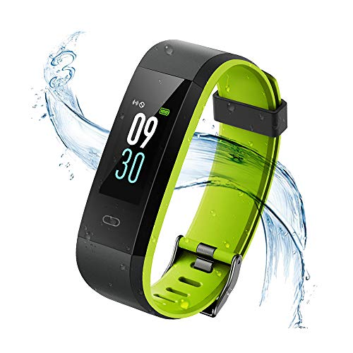 Vigorun Montre Connectée, Fitness Tracker d'Activité Ecran Coloré, Bracelet Connecté Etanche IP68 Smart Watch Band Sport Cardio Podomètre pour iPhone Samsung Huawei Android et iOS Smartphone