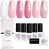 Sexy Mix Gel Nail Polish Set Soak Off UV LED Pink Colors Set Mixed 6 Colors #002