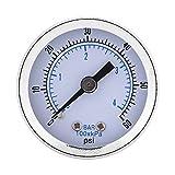 40mm Dia 0-60psi / 0-4bar Echelle Pneumatique Double manomètre de Pression d'huile...