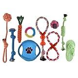 Petacc Giocattoli per Cani 10 pacchetti Set Regalo, Giocattoli della Corda del Cucciolo di Masticazione del Cane