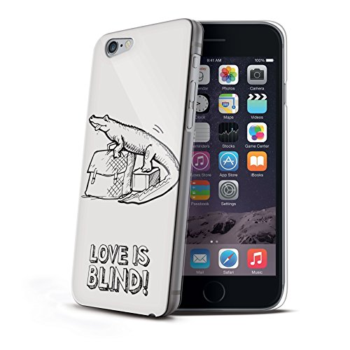 Celly Cover Love Is Blind per iPhone 6 Plus, Gatto, Bianco Fantasia - Croco