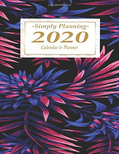 Simply Planning 2020 Calendar & Planner: Scheduler + Academic Organizer and Planner | Aechmea Fasciata Plant and Palms | Simply Planning Floral Series