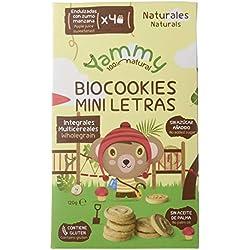 Yammy, Galleta Ecológica Infantil (Mini Letras Multicereales) - 6 de 120 gr. (Total 720 gr.)