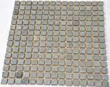 Fliesen Mosaik Mosaikfliesen Naturstein grau Boden Bad Küche 4mm NEU #SN12