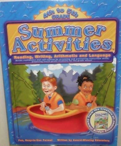 Summer Activities, 4th to 5th Grade, Reading, Writing, Arithmetic and Language