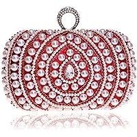 XNWYSTB Bolso de Novia \ Bolso de Noche de Embrague \ Bolsos de Hombro \ Bolso de Perla para Mujer Vestido de Embrague Bolso de Cena