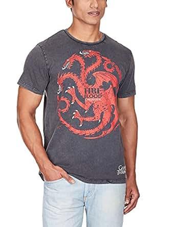 Game Of Thrones Men's T-Shirt (8903346483754_GT1DMT308_XX-Large_Black)