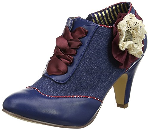 Joe Browns Fabulous Corsage Shoe Boots, Mary Jane femme Blue (a-blue)