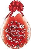 DeCoArt… Set Preis 2 Geschenkeballons Stufferballons Alles Gute zur Hochzeit Rosen 45 cm naturell ohne Schleife ungefüllt und 10 Kleine Latexballons ca 13 cm Perl farbig Sortiert