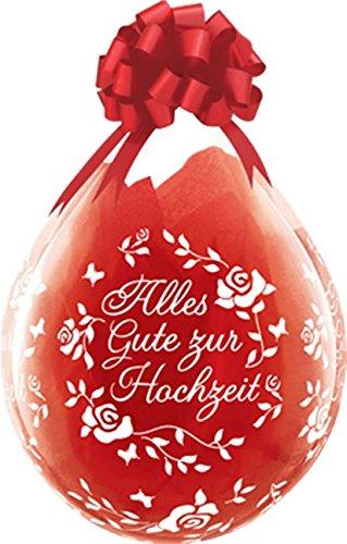 DeCoArt… Set Preis 2 Geschenkeballons Stufferballons Alles Gute zur Hochzeit Rosen 45 cm naturell ohne Schleife ungefüllt und 10 Kleine Latexballons ca 13 cm Perl farbig Sortiert 3
