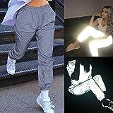 Sport elastische Nachtlicht Coole Jogginghose Malloom, Frauen hohe Taillen Feste leuchtende Sport Strpfhosen Hosen lösen zufällige Lange Hosen