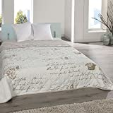 JEMIDI Bett und Sofaüberwurf XL Doppelbett gesteppt 220 x 240 Tagesdecke Überwurf Husse Decke XXL Tagesdecken Steppdecke gesteppt