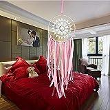 GiiWii Traumfänger Schlafzimmer Dekorative Anhänger Pink Ribbon Single Ring Spitze Kreative Handwerk