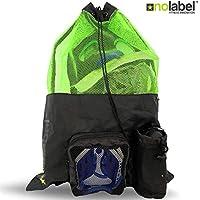 NO LABEL XL - Bolsa de natación de malla, mochila con cordón para natación, mochila grande unisex con cordón de malla, mochila de entrenamiento para natación, bolsa de traje de neopreno