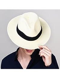 XiongDaDa Gorra,Verano Plegable Sombrero De Paja Tejido De Paja Sombreros De Playa No Viewer