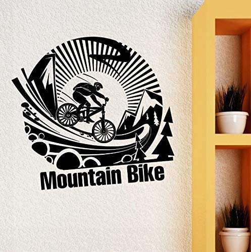 Abnehmbare Vinyl Wandaufkleber Mountainbike Extreme Sports Wandtattoo Extreme Sport Kunst Fahrrad Poster Jungen Room Wall Decor 57 * 54 Cm