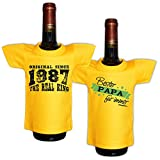 Mini T-Shirt Set Original since 1987 The real king und Bester Papa für immer Flaschenüberzieher Geschenk für das Geburtstagskind zum 31. Geburtstag