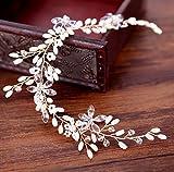 KaIFANG - Diademas de cristal, perlas de vid, accesorios para el pelo de boda B