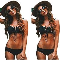 Bikini Teilen Bademode Damen DAY.LIN Sexy Frauen Verband Push-up Bikini Set gepolsterter BH Badeanzug Bademode Beachwear