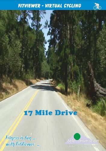 TeleAnimation - FitViewer - 17 Mile Drive - Virtual Indoor Cycling Training - USA (Mile 17 Drive)