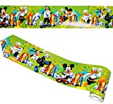 Unbekannt Wandbordüre - selbstklebend -  Disney Mickey Mouse & Fussball  - 5 m - Wandsticker / Wandtattoo - Bordüre Aufkleber Kinderzimmer - für Kinder Jungen / Fußba..