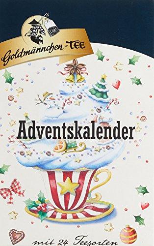 Adventskalender Stern mit Goldmännchen-Tee
