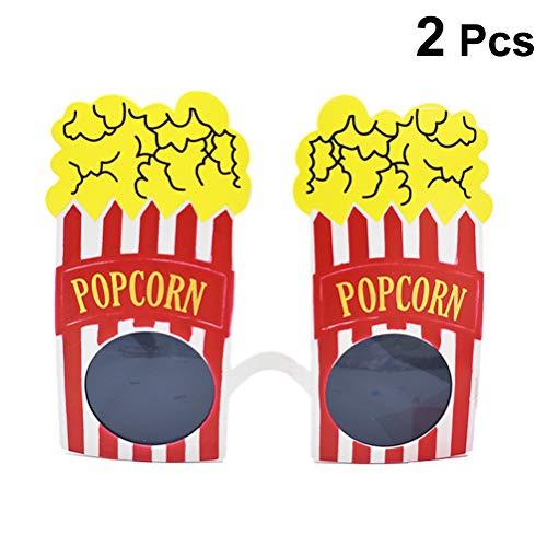 Amosfun 2 stücke Party Sonnenbrillen Neuheit Popcorn Brillen Kostüm Brille Party Favors Foto Prop