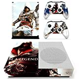 XBox One Slim + 2 Controller Aufkleber Schutzfolien Set - Assassins Creed Be a Legend /One S