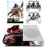 XBox One Slim + 2 Controller Aufkleber Schutzfolien Set - Assassins Creed Be a Legend /One S