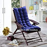 AMZ Premium Microfibre Soft Home Cotton Cushion Long Chair Pad Cushion for Indoor/Outdoor Home Garden Decor (Royal Blue,48 x 16 inches,Set of 1)