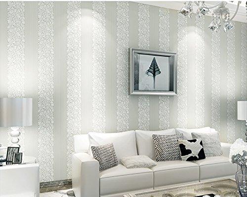 LongYu 3D Dreidimensionale Vlies Wilde Vertikale Streifen tapete Wohnzimmer Schlafzimmer TV Hintergrund Wand pape kaufen Drei Erhalten Eine (Color : Creamy-White)
