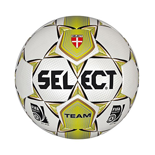 SELECT TEAM - BALON COSIDO  COLOR BLANCO / VERDE  TAMAñO 5