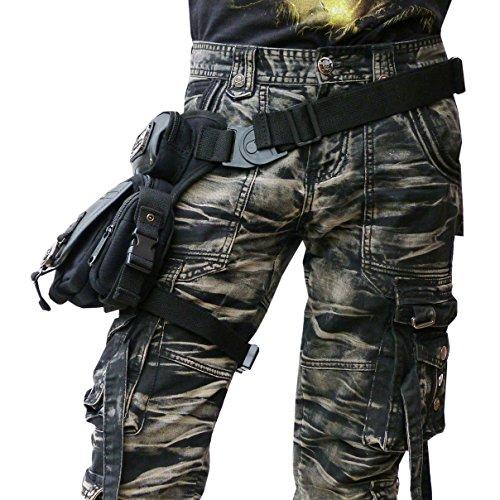 LUCYFIRE fashion - Riñonera negro negro