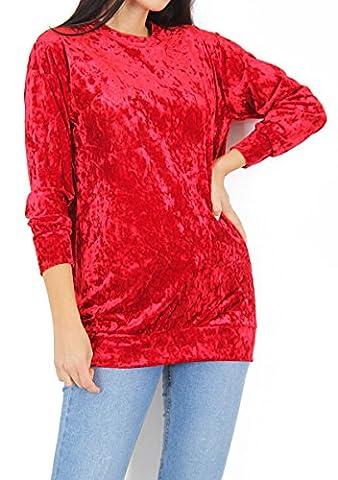 MIA - Top à manches longues - Femme - rouge -