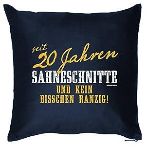 Zum 20. Geburtstag! Kissen mit Füllung - seit 20 Jahren Sahneschnitte... Ein lässiges Geschenk zum 20ger!