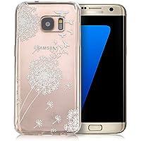tinxi® silikon Schutzhülle für Samsung Galaxy S7 5,1 Zoll Hülle TPU Silikon Rückschale Schutz Hülle Silicon Case Tasche sehr dünn und leicht nur 0,7mm Dicke fliegende Vögel und weiße Löwenzahn