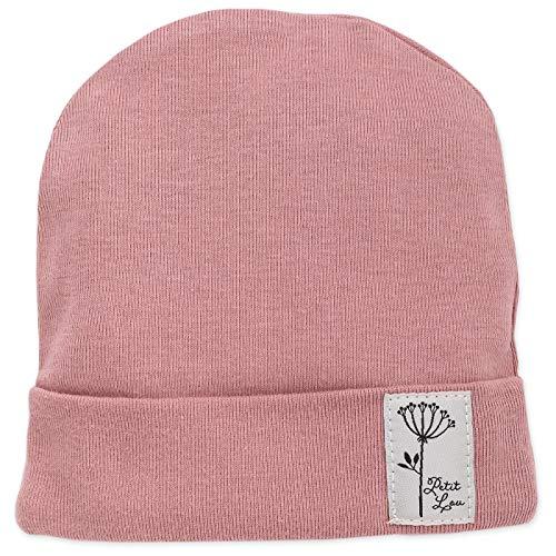 - Baby Mütze - Mädchen - Rosa Blau Beanie Bindemütze -Neugeborenenmütze Spitze Trend Unisex Größe 56,62 (62 cm | Kopfumfang: 41 cm, Rosa) ()