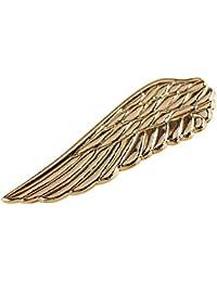Dabixx 1 Pieza Clip de Corbata para Hombre, Hombres Elegante Traje de Negocios de Bodas Tie Wing Tie Bars Pin Broche de Accesorios de Regalo - Oro