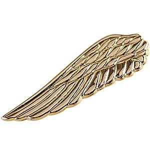 Dabixx 1 Stück Krawattenklammer für Herren, Männer Stilvolle Hochzeit Business Anzug Krawatte Flügel Krawatte Bars Pin Haken Geschenk Zubehör – Gold