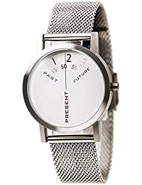 Projects Watch - Past, Present, Future - Silver/Mesh (33mm)