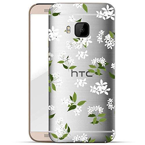 Finoo Hülle für HTC One M9 - Handyhülle mit Motiv und Optimalen Schutz Tasche Case Hardcase Cover Schutzhülle - Jasminflowers