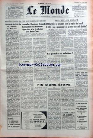 MONDE (LE) [No 7289] du 21/06/1968 - SUCCES DE MC ...