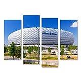 Bild Bilder auf Leinwand Allianz Arena Stadion an Einem