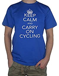 Keep Calm And Carry On Cycling - Funny T-Shirt Cyclist Top by My Cup Of Tee
