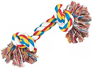 PawCloud Nature Cotton Rope Dog Toy| for Medium Dog Breeds | 9.5 inches | Medium |Multicolor